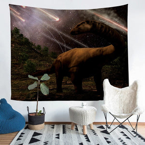 Asteroid Dinosaur Tapestry Wall Hanging Throw Blanket