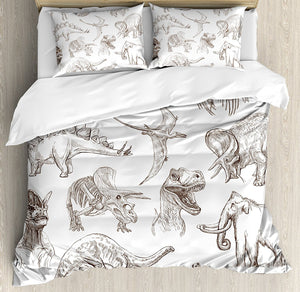 Jurassic Sketch Duvet Cover Set