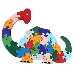 Wooden 3D Jigsaw Educational Brontosaurus Dinosaur Puzzle
