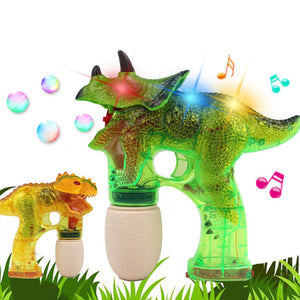 Dinosaur Electric Bubble Maker Gun With Music And Light