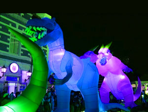 Giant Advertising Lighting Inflatable Tyrannosaurus Rex Dinosaur With Air Blower For Event