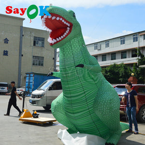 2017 Giant Outdoor Inflatable Dinosaur With Full Digital Printing, Inflatable Model Cartoon Advertising