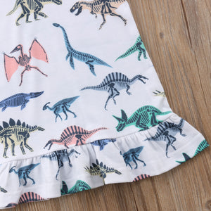 Ruffled Dinosaur T-Shirt