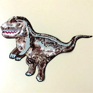 28cm Sequins T-Rex Dinosaur Patch