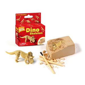 Small Dinosaur Fossil Triceratops Dig Excavation Toy Kit