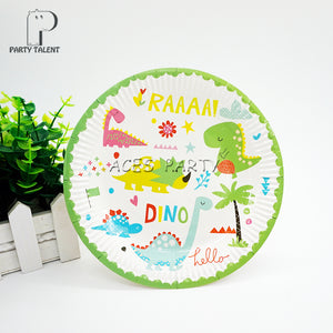 26 Piece 8 Place Setting Dinosaur Theme Birthday Party Decoration Tableware  Set