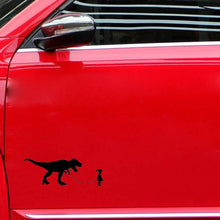 Vinyl Girl Walking Dinosaur Car Decal