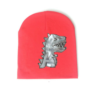 Baby Knitted Warm Cotton T-Rex Beanie Multiple Color Options