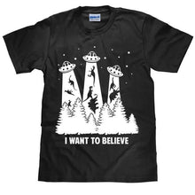 I Want To Believe Dinosaur Dinosaur Abduction Cotton T-shirt