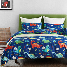 Dinosaurs On Vacation Duvet Cover Set