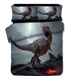 3D Graphic Rex Rawrs Dinosaur Duvet Cover & Sham Bedding Set In UK USA AU Sizing Options