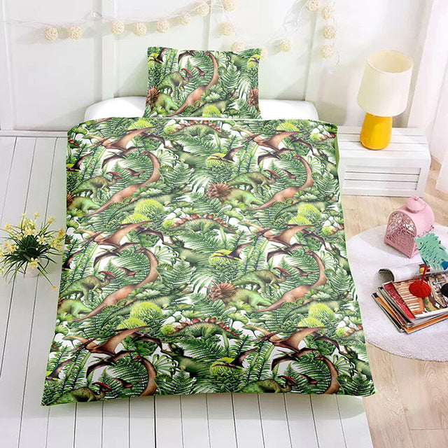 It's a Jungle Out There Dinosaur Duvet Cover Set