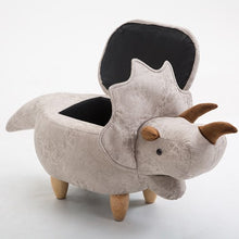 Triceratops Vegan Leather Foot Stool Ottoman Available With Or Without Storage Multiple Color Options