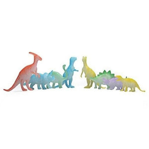 8 Piece Glow In The Dark Dinosaur Figures Toy Set