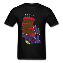 Hungry Hungry Dino Cake Cotton T-shirt Multiple Color Options