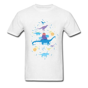 Dino Galaxy Cotton T-Shirt Multiple Color Option