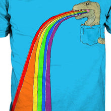 Pocket T-Rex Spits Rainbows T-shirt