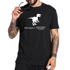 Geeky Velociraptor Cotton T-Shirt