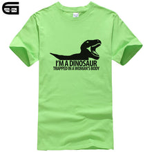 I'm A Dinosaur Trapped In A Woman's Body Cotton T-Shirt Multiple Color Options