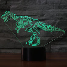 LED Touch Button USB 7 Colors Changing 3D Dinosaur Fossil Night Light Table Lamp