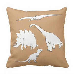 Dinosaur Squad Throw Pillow Case Cover
