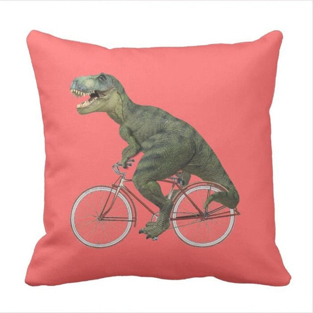 T-Rex Armstrong Throw Pillow Case Cover