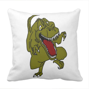 T-Rex In Effect Dinosaurs Throw Pillow Case Cover