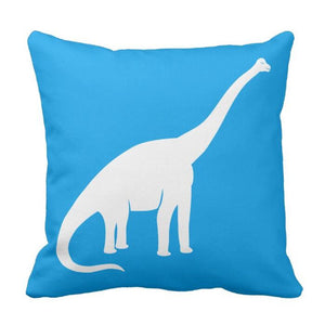 Brachiosaurus Dinosaur Throw Pillow Cover