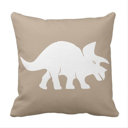 Triceratops Dinosaur Throw Pillow Cover