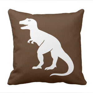 Brown T-Rex  Dinosaur Throw Pillow cover