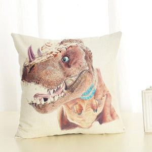 Dinosaur Style Linen Pillow Case Animal Cushion Cover for Sofa Home Decorative Throw Pillow Cover 45x45cm