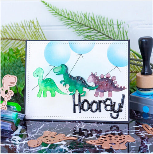 DIY Cute Dinosaurs Metal Cutting Dies Stencils