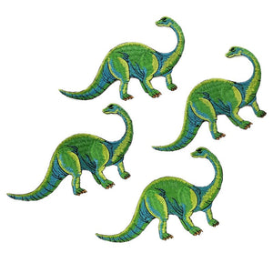 4 Piece  DIY Dinosaur Applique Embroidered Iron On Patches