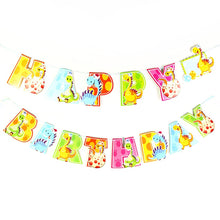 Happy Birthday Colorful Dinosaur Banner Party Supplies