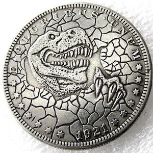 Morgan Dollar Dinosaur Collectible Pressed Coin