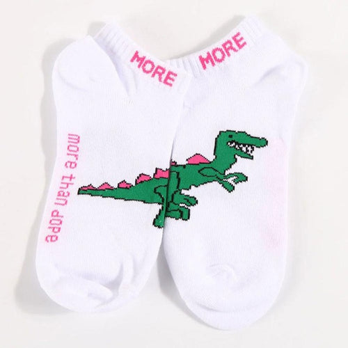 Dinosaur Seamless Women's Ankle Tennis Socks