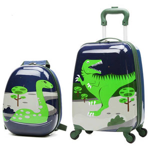 Rolling Luggage Backpack Set Travel Carry on