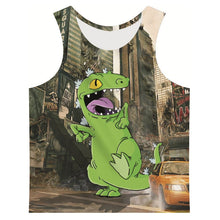 3d Graphic Kooky T-Rex Tank Top