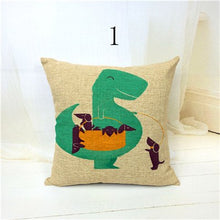 Handmade  Dinosaurs Can To Hug Velvet or Linen Throw Pillow Cases