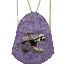 Dinosaur Drawstring Travel Beach Bag Backpack