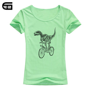 Pastel Jurassic Cycle Dinosaur Graphic T-Shirt 7 Color Options