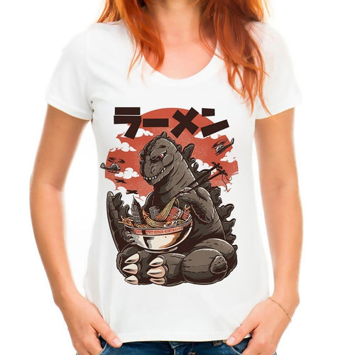Godzilla, He's Just Like Us, He Craves Ramen T-Shirt