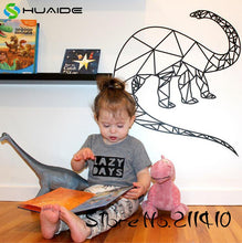 Geometric Brontosaurus Vinyl Wall Stickers Decals Multi Size & Color Options