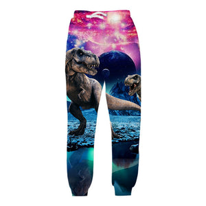 T-Rex Galaxy 3D Graphic Sweatpants