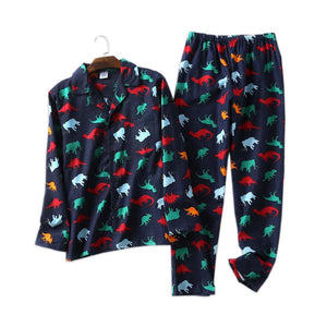 100% cotton Dinosaur Pajamas Sets
