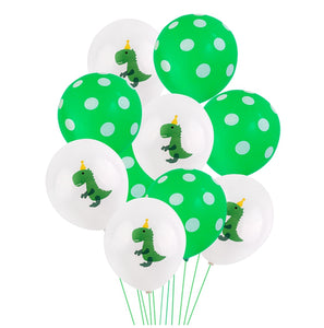 Green Dinosaur Birthday Balloon Party Decoration Supplies