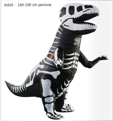 adult inflatable t rex dinosaur skeleton cosplay halloween costume