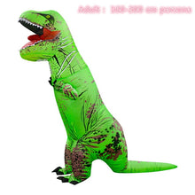 Adult Inflatable Green T-Rex Dinosaur Cosplay Halloween Costume