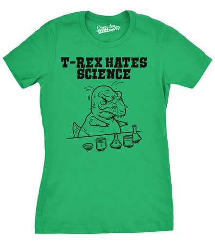T-Rex Hates Science Cotton T-shirt 5 Color Options