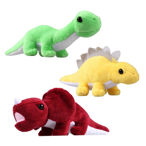 3 Piece Stuffed Animal Dinosaur Plush Toy Set